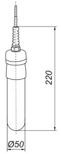 Габаритные размеры датчика СУ-ГП2